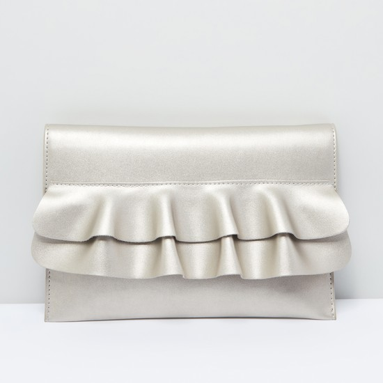 Wave Detail Bag with Metallic Chain