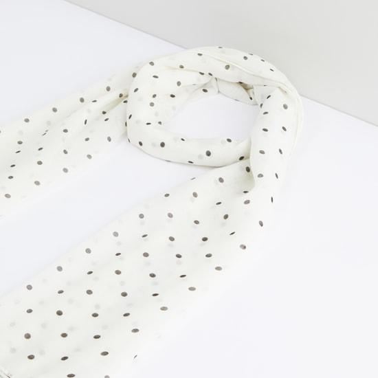 Polka Dot Printed Scarf