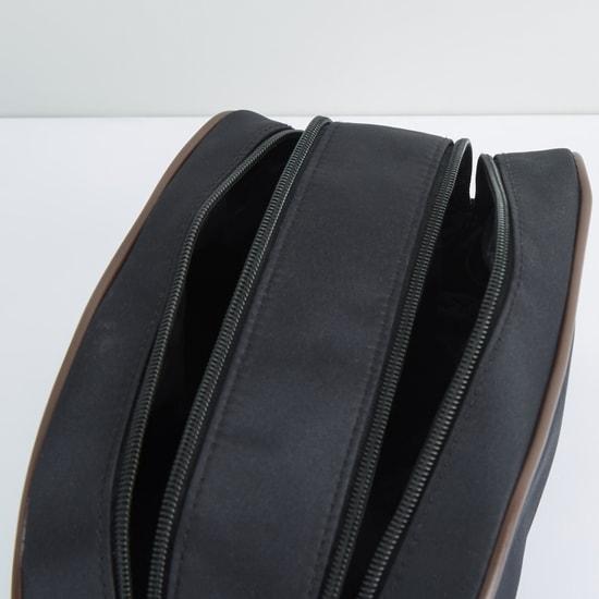Dual Compartment Zip Closure Pouch