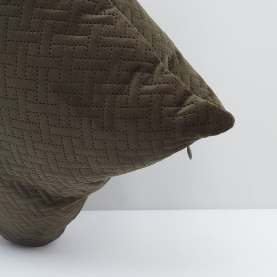 Textured Filled Cushion with Zip Closure