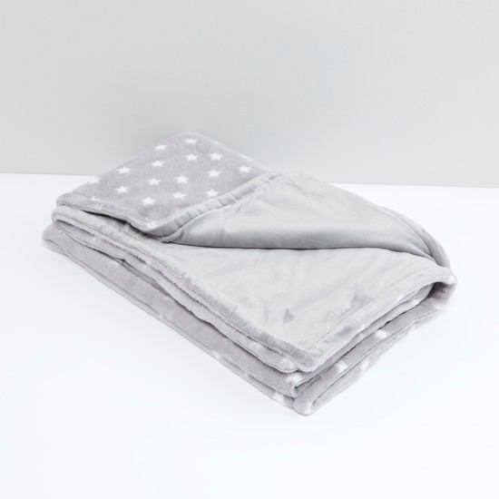 Star Printed Fleece Blanket