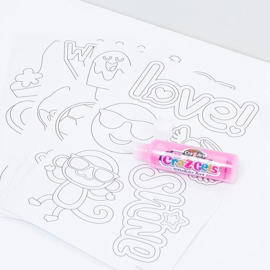 3D CraZGels Bold and Gold Sticker Art
