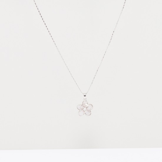Flower Pendant Necklace with Lobster Clasp