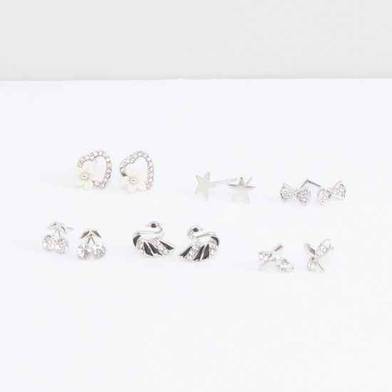 Assorted Earrings with Pushback Closure - Set of 6