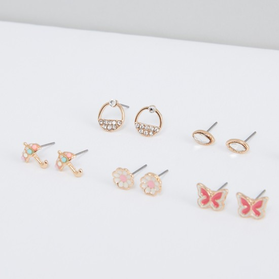 Assorted Stud Earrings - Set of 9