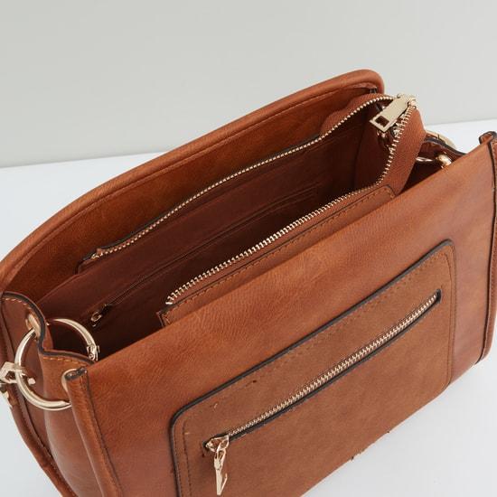 حقيبة يد سادة بسحّاب إغلاق ومقبض علوي