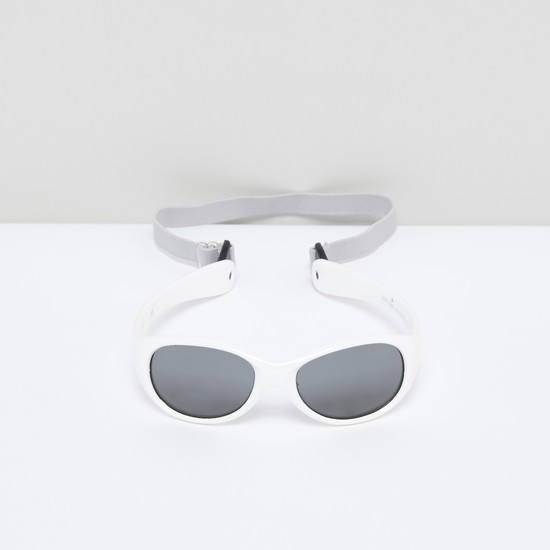 Full Rim Oval Sunglasses with Back Strap
