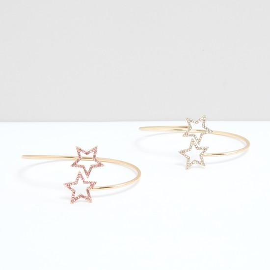 Star Studded Cuff Bracelet - Set of 2