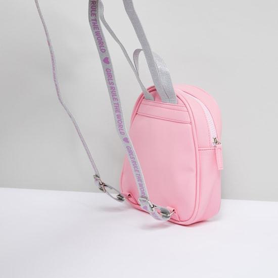 Princess Aurora Sequin Detail Glitter Backpack with Adjustable Straps
