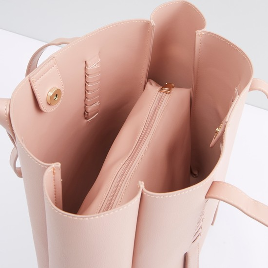 Tote bag with Twin Handle Straps and Pouch