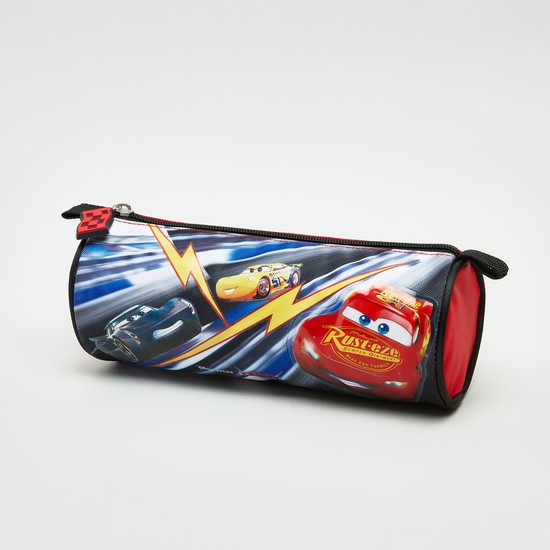 Cars Printed Round Pencil Case