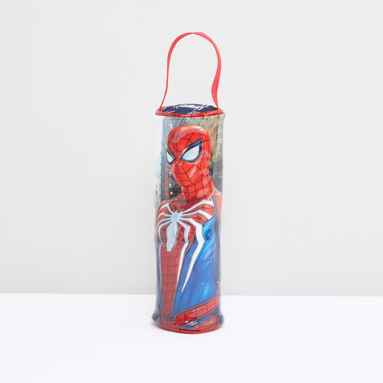 Spider-Man Printed Pencil Case with Zip Closure and Wristlet