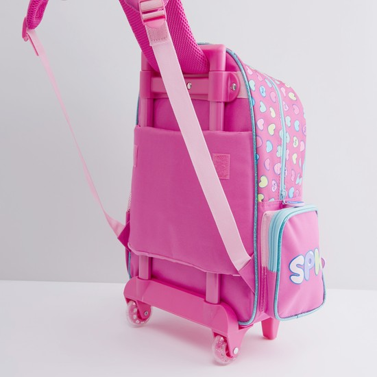 Shopkins Printed Trolley Backpack with Retractable Handle