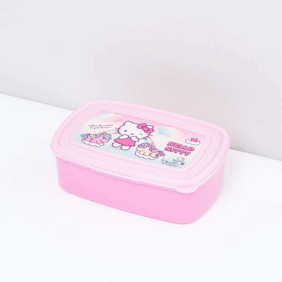 Hello Kitty Printed Lunch Box with Lid