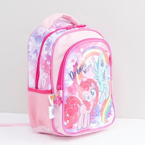 My Little Pony Printed Backpack with Zip Closure and Adjustable Straps