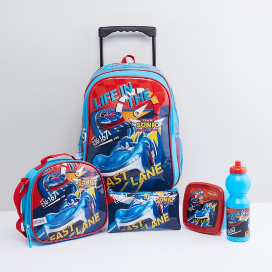Sonic Printed 5-Piece School Accessory Set
