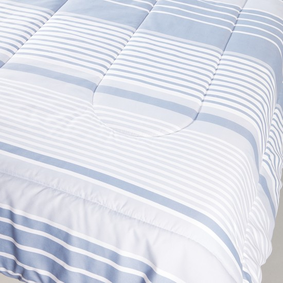Striped Comforter with Pillow Case - 160x220 cms