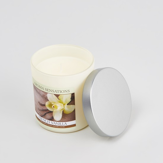 Aroma Sensations French Vanilla Candle Jar - 80 cms