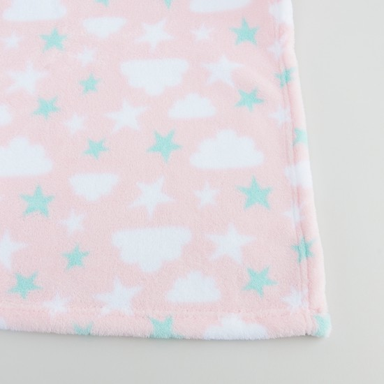 Printed Blanket with Embroidered Applique - 100x75 cms