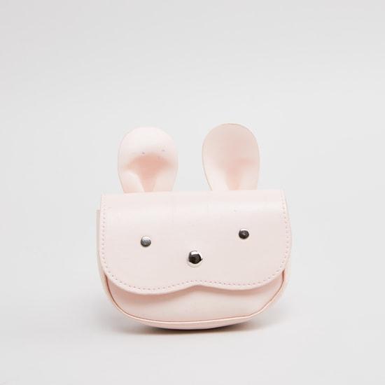 Applique Detail Waist Bag with Magnetic Snap Closure