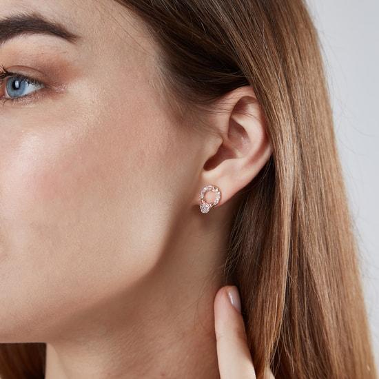 Set of 6 - Embellished Stud Earrings
