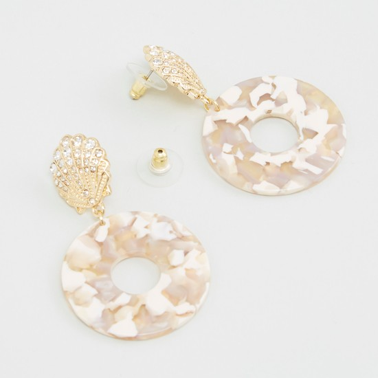 Embellished Dangling Earrings with Pushback Closure