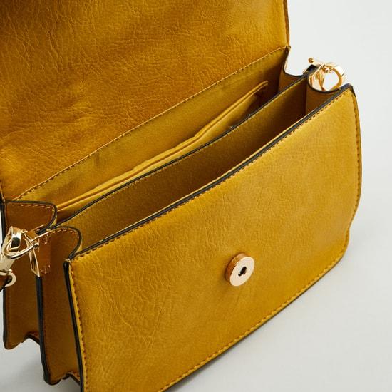 حقيبة ساتشيل بارز الملمس بمقبض علوي