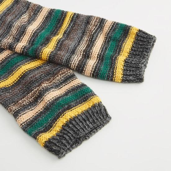 Striped Leg Warmers - 40x10 cms