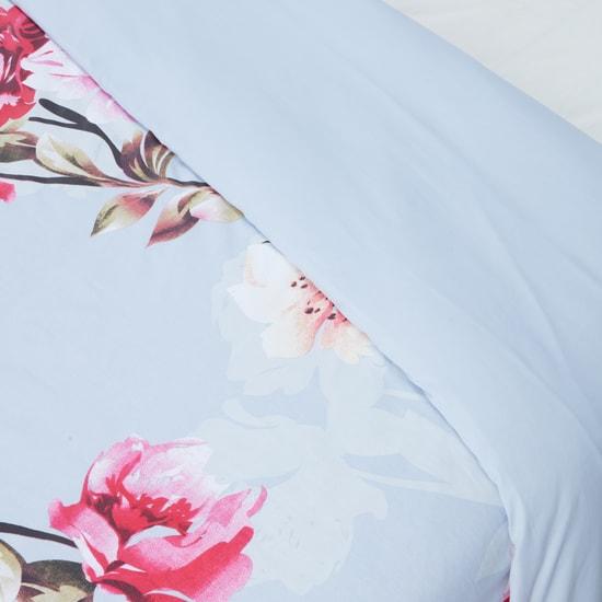 طقم أغطية لحاف وغطاء وسادة بطبعات زهرية - 150x200 سم