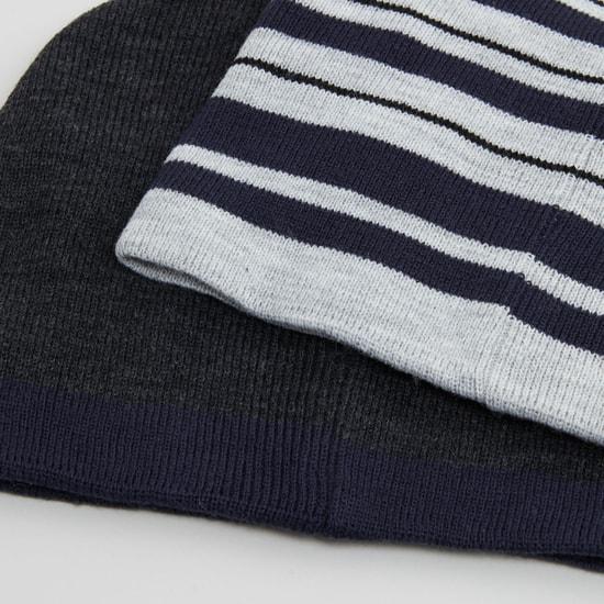 قبعات بيني متنوعة- طقم من قطعتين