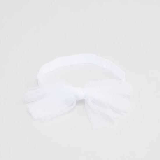 أشرطة  شعر بارزة الملمس بفيونكة - طقم من 3 قطع