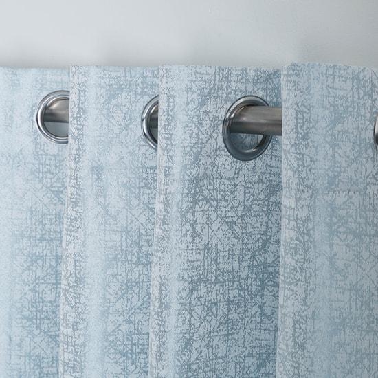 Textured 2-Piece Curtain Set - 240x140 cms