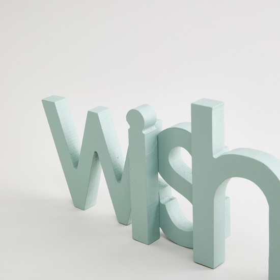 Wishes' Decor Accent Piece - 41x3x13 cms