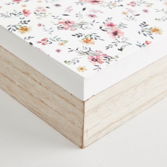 Floral Top Storage Box - 14x14x7 cms