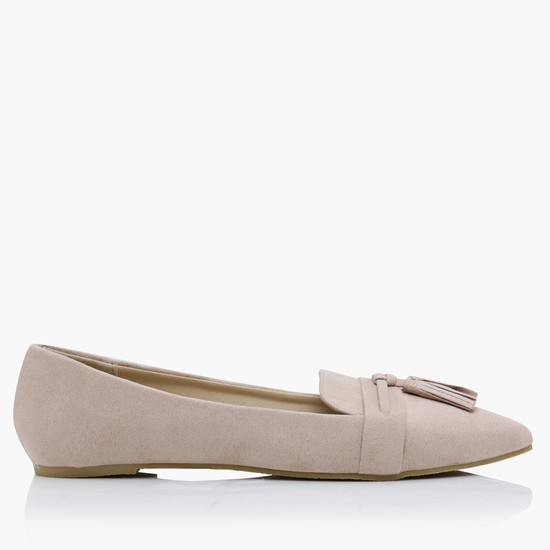 Slip-On Belly Shoes with Tassels