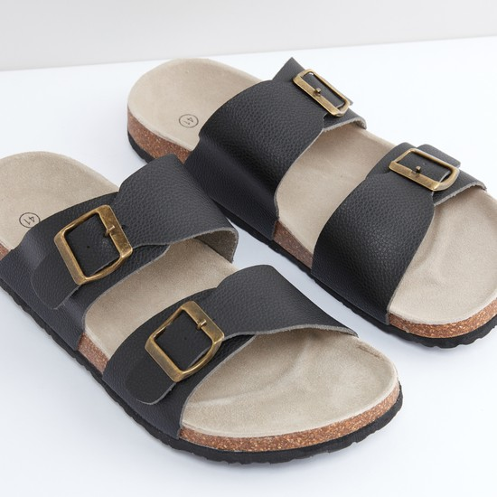 Dual Strap Slides with Pin Buckle Detail