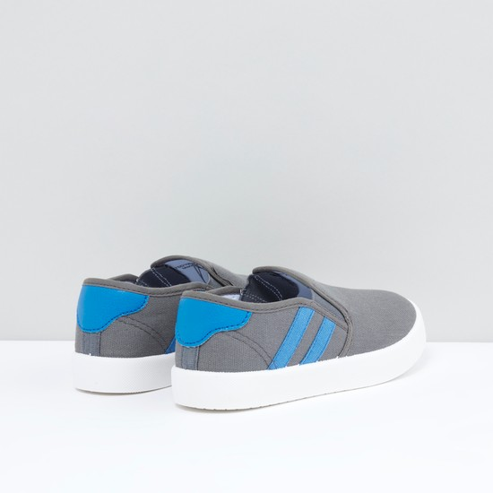 Slip-On Shoes with Gussets and Stripe Detail