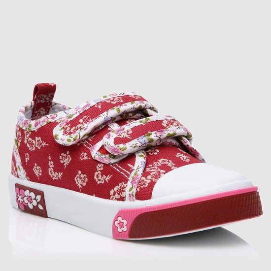 Printed Shoes with Hook and Loop Closure