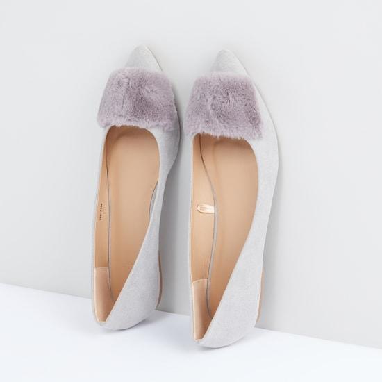 Plush Detail Slip-On Shoes