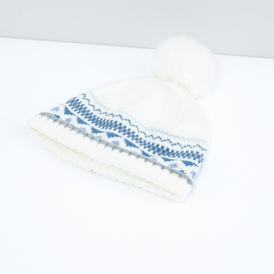 Textured Cap with Gloves - Set of 2