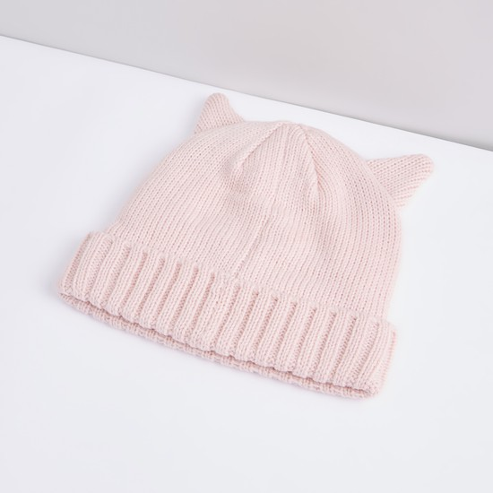 Embroidered Applique Detail Beanie Cap