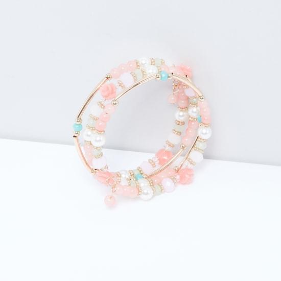 Pearl Detail Spiral Bracelet