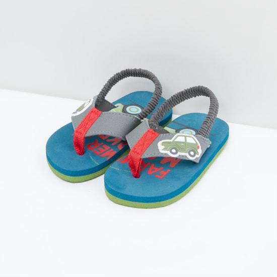 Printed Backstrap Sandals