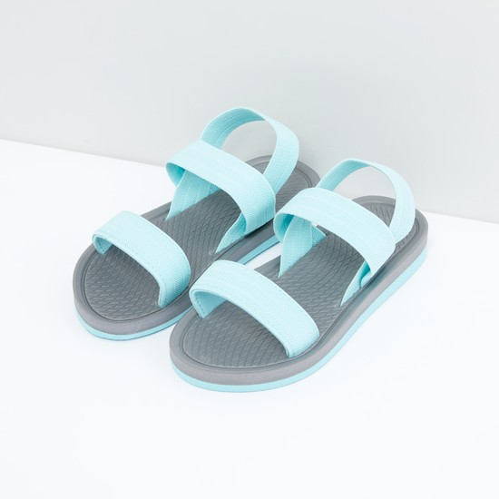 Textured Sandals with Dual Straps