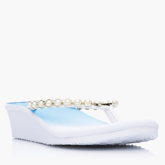 Embellished Thong Slippers