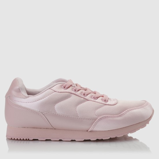 Quilted Sneakers with Lace-Up Closure