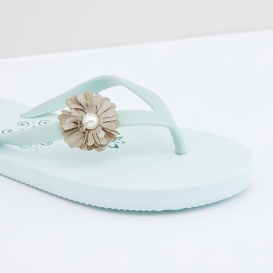 Flower Detail Flip Flops