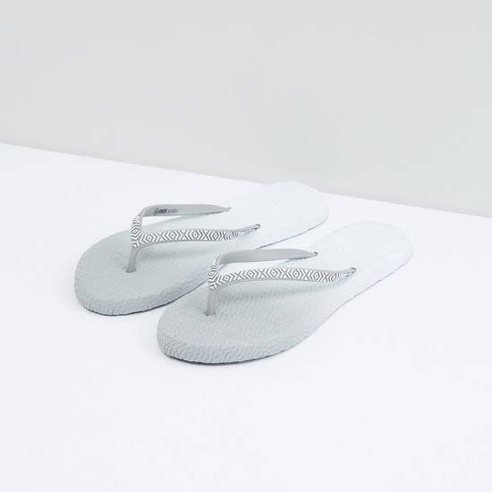 Textured Dual Tone Flip Flops
