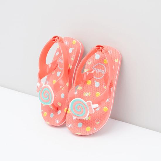Printed Slingback Flip Flops