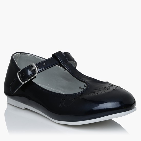Slip-On Mary Jane Shoes with Buckle Closure